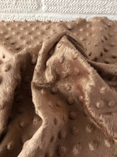Load image into Gallery viewer, Tan / Brown Dimple Fleece Fabric,  Popcorn Supersoft Fleece.