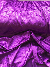 Load image into Gallery viewer, Purple Velour, Crushed Velvet Velour - Stretchy