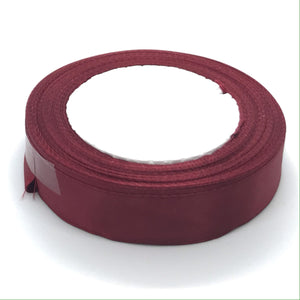 Satin Ribbon | Single Faced | Wine Burgundy