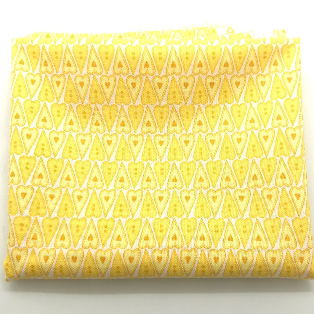 Red Rooster  Basically Hugs Fabric Collection | Yellow Hearts 24113