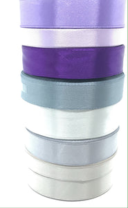 Satin Ribbon | Single Faced | Silver