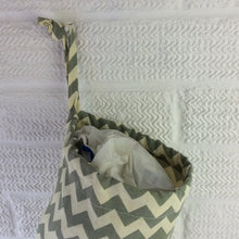 Load image into Gallery viewer, Fabric Bag Dispenser | Plastic Bag Storage | Green Chevrons