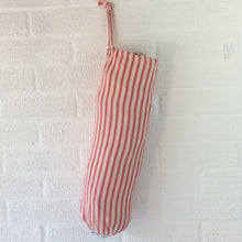 Load image into Gallery viewer, Fabric bag Dispenser, Pink Ticking Stripe