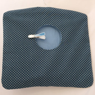Peg Bag | Clothes Pin Bag | Denim Blue spotted Fabric