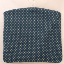 Load image into Gallery viewer, Peg Bag | Clothes Pin Bag | Denim Blue spotted Fabric