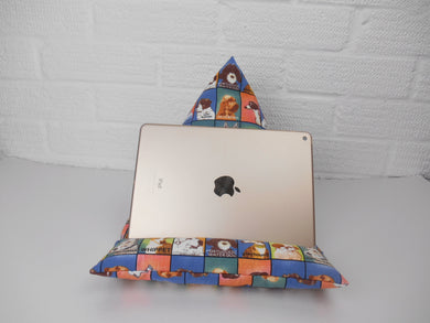 Dog Lovers Tablet or iPad Holder,  Bean Bag Cushion