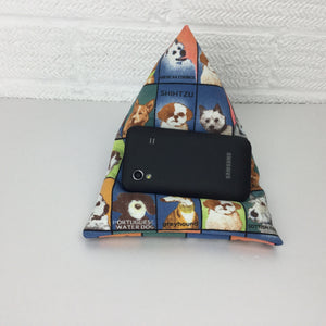 Dog Lover Phone Holder Bean Bag Cushion