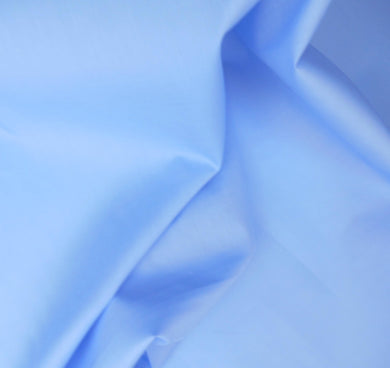 Medium Blue Plain Polycotton fabric
