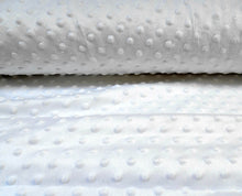 Load image into Gallery viewer, White Dimple Fleece Fabric,  Popcorn Supersoft Fleece.
