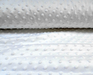 White Dimple Fleece Fabric,  Popcorn Supersoft Fleece.