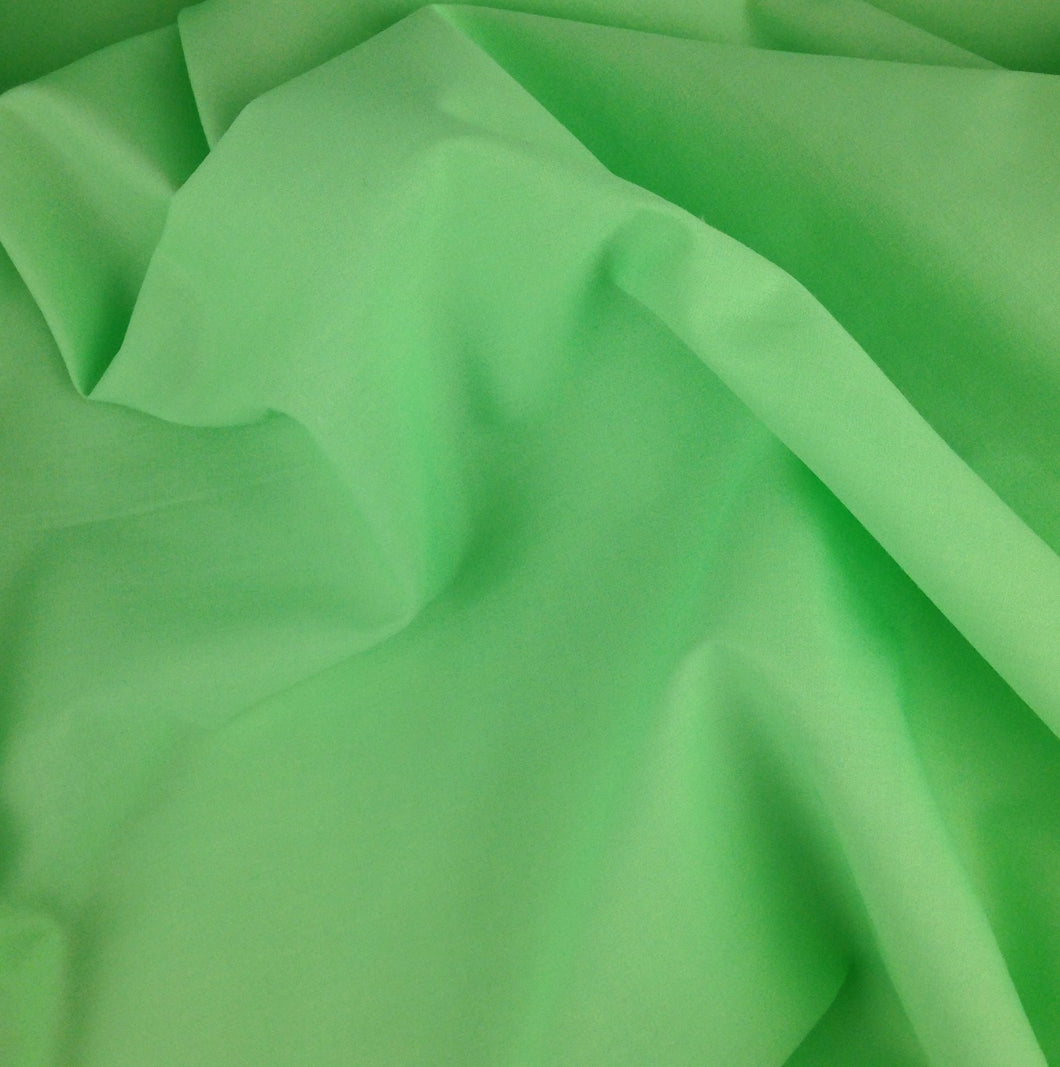 Lime Green Plain Polycotton fabric