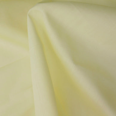 Yellow Plain Polycotton fabric