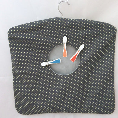 Peg Bag | Clothes Pin Bag | Grey spotted Fabric