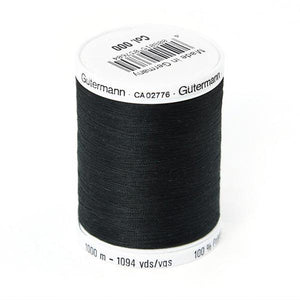 Gutermann Sewing Thread | 1000 metres | Black