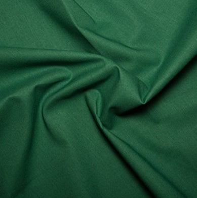 Bottle Green Plain Cotton Fabric