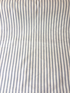Ticking Fabric, grey stripes