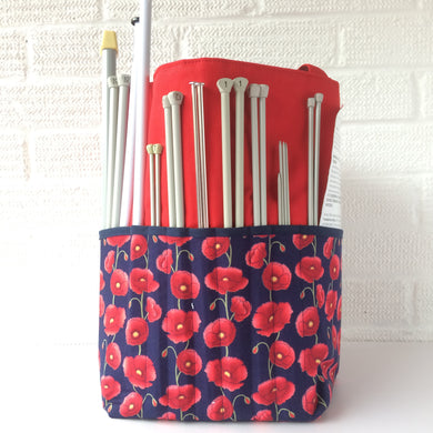 Knitting Bags | Crocheting Totes Red Poppy