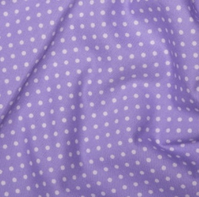 Lilac spotted Cotton Fabric, Tiny Spots cotton fabric
