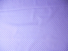 Load image into Gallery viewer, Lilac spotted Cotton Fabric, Tiny Spots cotton fabric