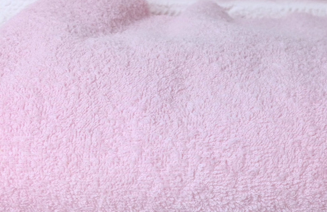 Light Baby Pink Terry towelling 100% Cotton