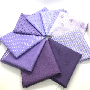 P & B Basically Hugs Purple Collection Fat Quarter Bundle