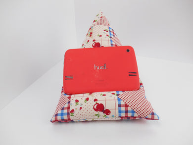Red apple Tablet or iPad Holder,  Bean Bag Cushion