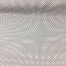 Load image into Gallery viewer, Silver grey spotted Cotton Fabric, Tiny Spots cotton fabric