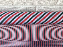 Load image into Gallery viewer, Striped larger Christmas Polycotton fabric