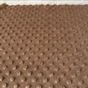 Tan / Brown Dimple Fleece Fabric,  Popcorn Supersoft Fleece.
