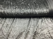 Load image into Gallery viewer, Grey / Silver Velour, Crushed Velvet Velour - Stretchy