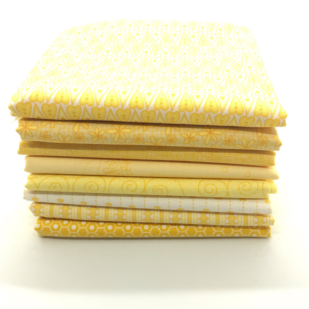Red Rooster  Basically Hugs Yellow Collection Fat Quarter Bundle