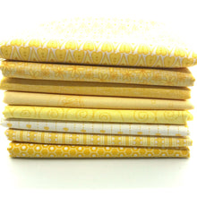 Load image into Gallery viewer, Red Rooster  Basically Hugs Fabric Collection | Yellow Cross Hatch 25045