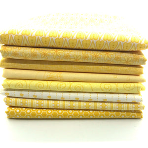 Red Rooster  Basically Hugs Fabric Collection | Yellow Cross Hatch 25045