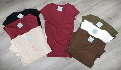 Basic V-Neck Tees