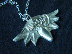 "Sterling Silver Austin Bat Necklace 	(1.5 X 1"" approx. pendant)"