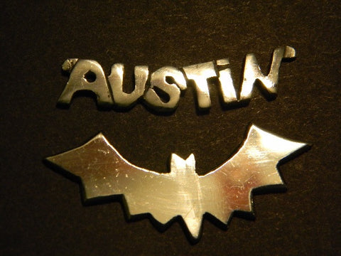 Sterling Silver Austin& Bat Necklace