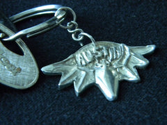 Sterling Silver Austin Bat Key Chain