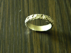 Men's Sterling Silver Hammered Ring