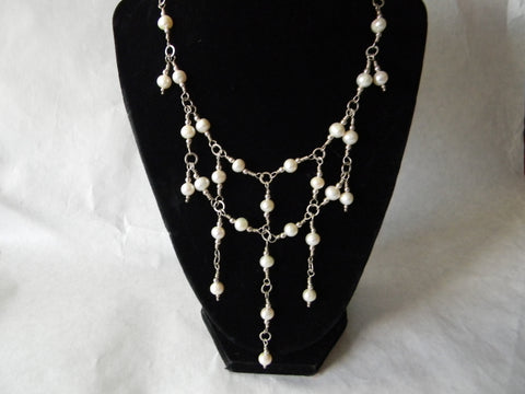 Sterling Silver & Fresh Water Pearl Necklace