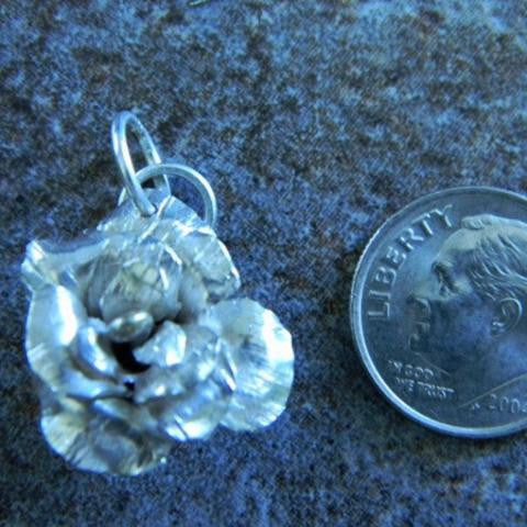 Sterling Silver Rose Pendant