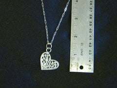 Sterling Silver Heart Filigree necklace					$120