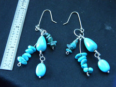 Athena Silversmith Handcrafted  Sterling Silver and Turquoise Earrings