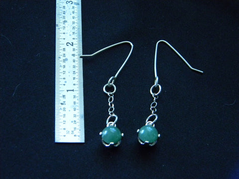 Athena Silversmith Handcrafted  Sterling Silver and Aventurine Earrings