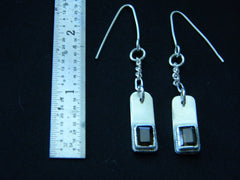 Athena Silversmith Handcrafted  Sterling Silver and Smoked Quartz Earrings