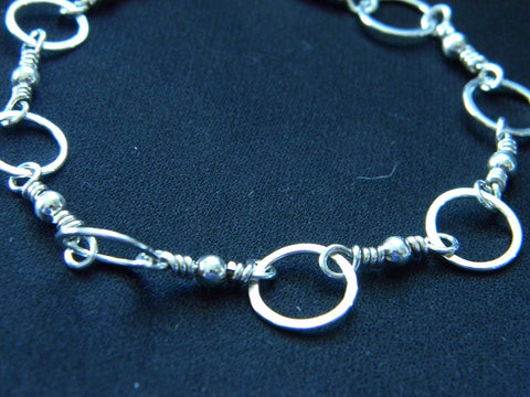 Athena Silversmith Handcrafted Sterling Silver 7 ¾-Inch Bracelet