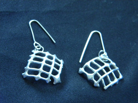 Athena Silversmith Handcrafted Sterling Silver Knitted Earrings