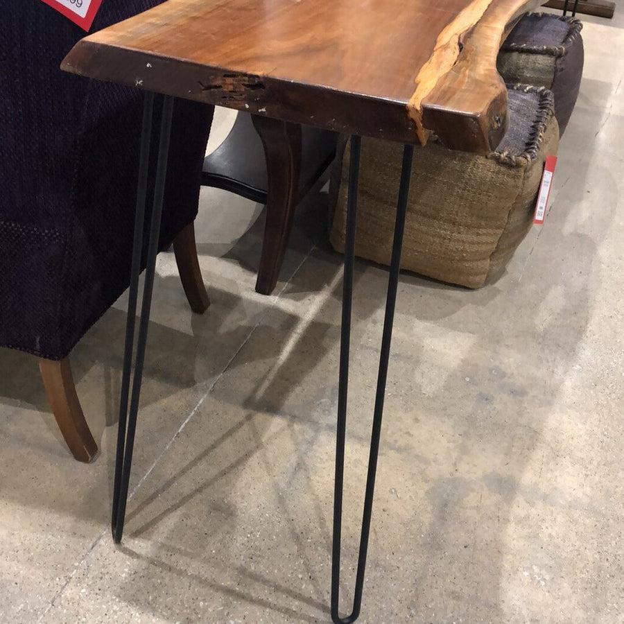 Live Edge Natural Cut-Out Console Table w/ Hairpin Legs CONSOLE TABLE - Divine Consign