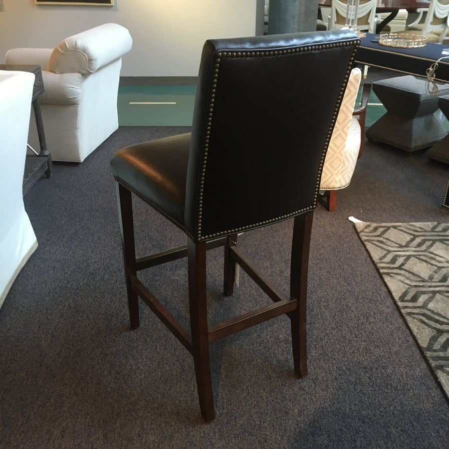 J. Marshall Design Showroom - Vanguard Leather Bar Stool - RETAIL PRICE $4,840 Luxe Counter/Bar Stools