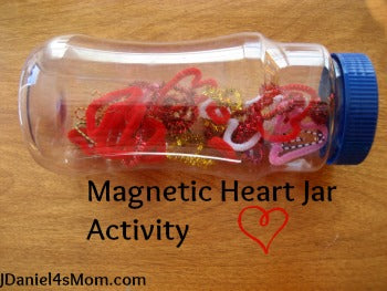 Magnetic Heart Jar