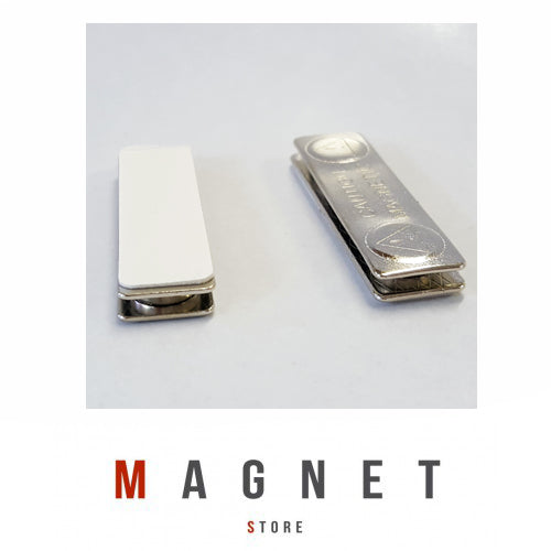 L45x13x4.5mm (2 Magnets) Rectangle Steel Badge